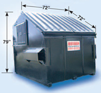 Front loader dumpster for commercial garbage removal